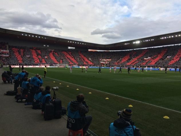 Choreo Slavistických fanoušků v zápase proti Plzni