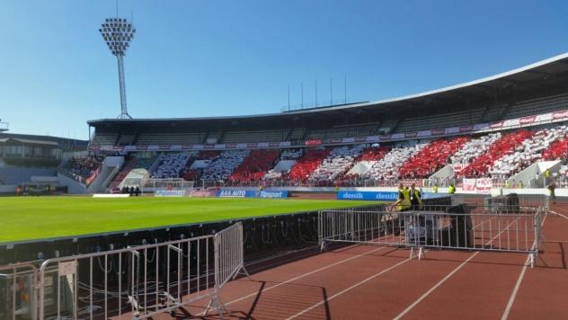 celo stadionové choreo Slavie Praha